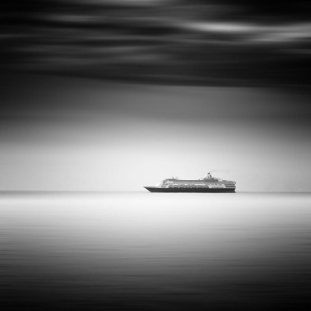Photo in Fine Art #monochrome #mono #b&w #black and white #fine art #ship #ocean #seascape #waterscape #usa #maine