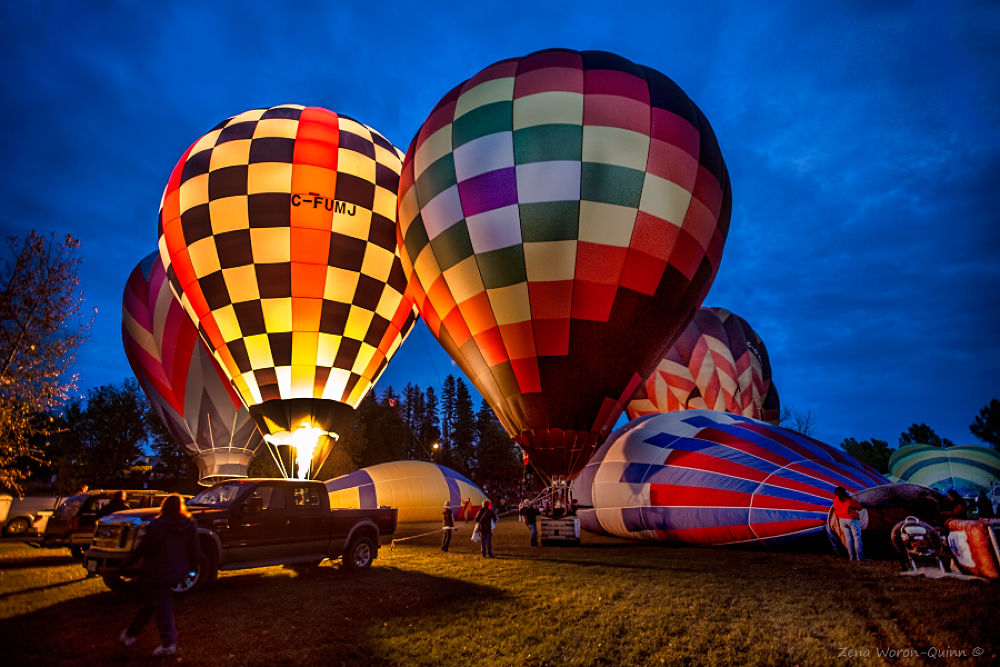 Photo in Random #balloons #night #glow #glo #hot air #balloon #canada #high river #2103 #championships