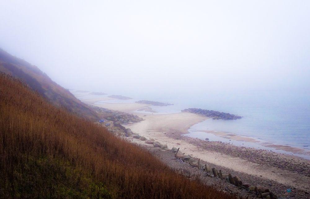 Photo in Landscape #beach #denmark #winter #boat #fence #infinity #horizon