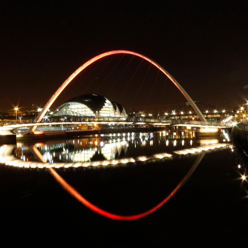 Photo in Random #bridge #newcastle #night #tyne