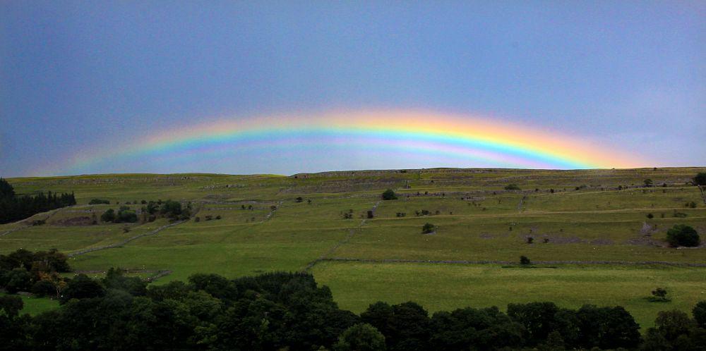 Photo in Random #landscape #rainbow #yorkshire dales #canon