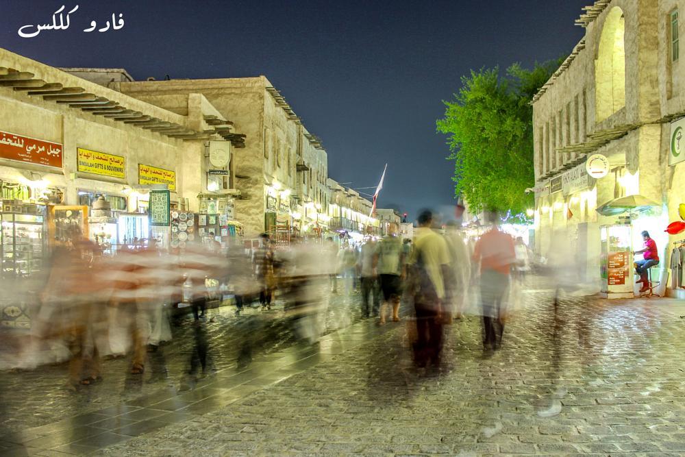 Photo in Street Photography #night #fadhuclicks #photography #qatar #souq #waqif #life #street