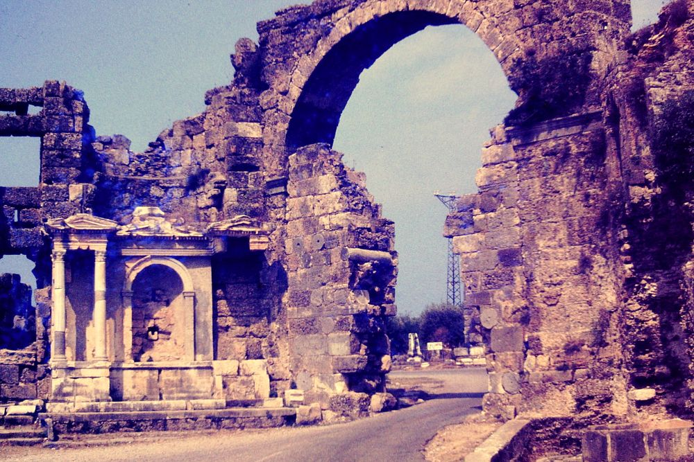 Photo in Architecture #enterance to #antic city #ruins of side #antalya/turkey