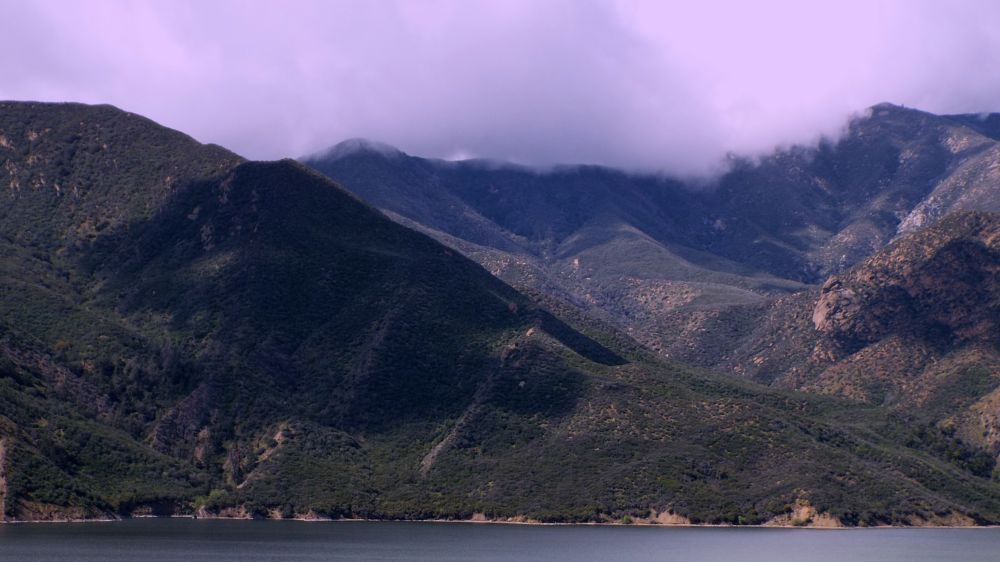 Photo in Landscape #view #of the lake #on the way #to #los angeles #california #usa