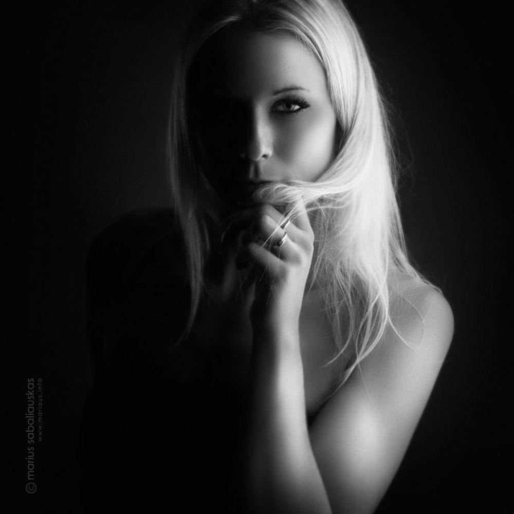 Photo in People #black and white #female #studio #portrait #retouch