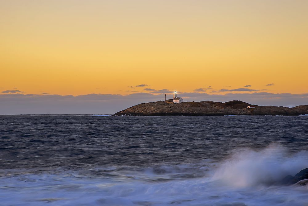 Photo in Landscape #sunset #norway #nikon #sky #water #lighthouse #austevoll