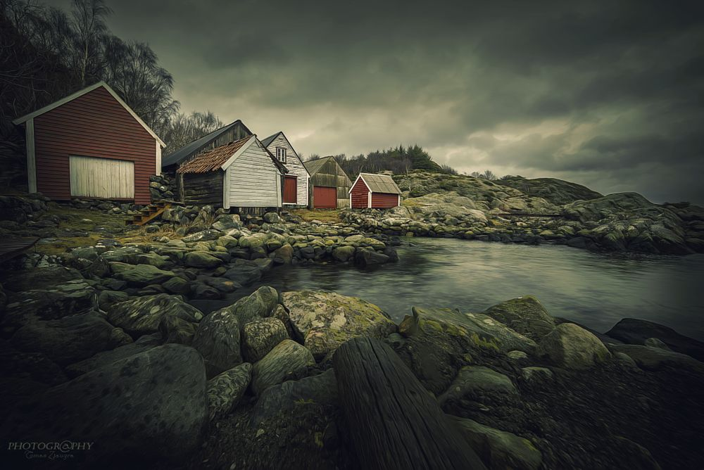 Photo in Landscape #norway #nikon #stone #houses #water #long exposure #sky