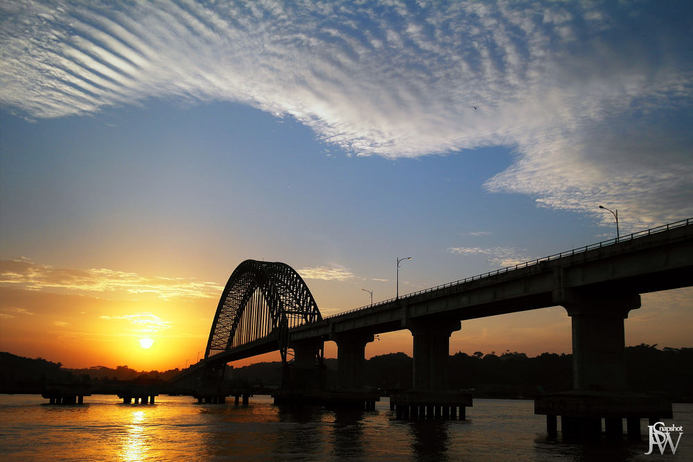 Photo in Random #bridge #sunset #river #sky