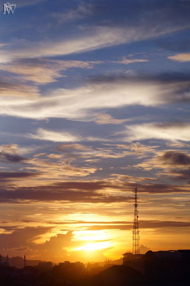 Photo in Random #silhouette #sunset #cloud #sun #sky