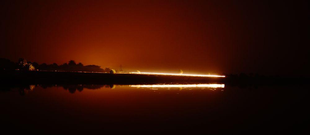 Photo in Landscape #night #long exposure #lakeside