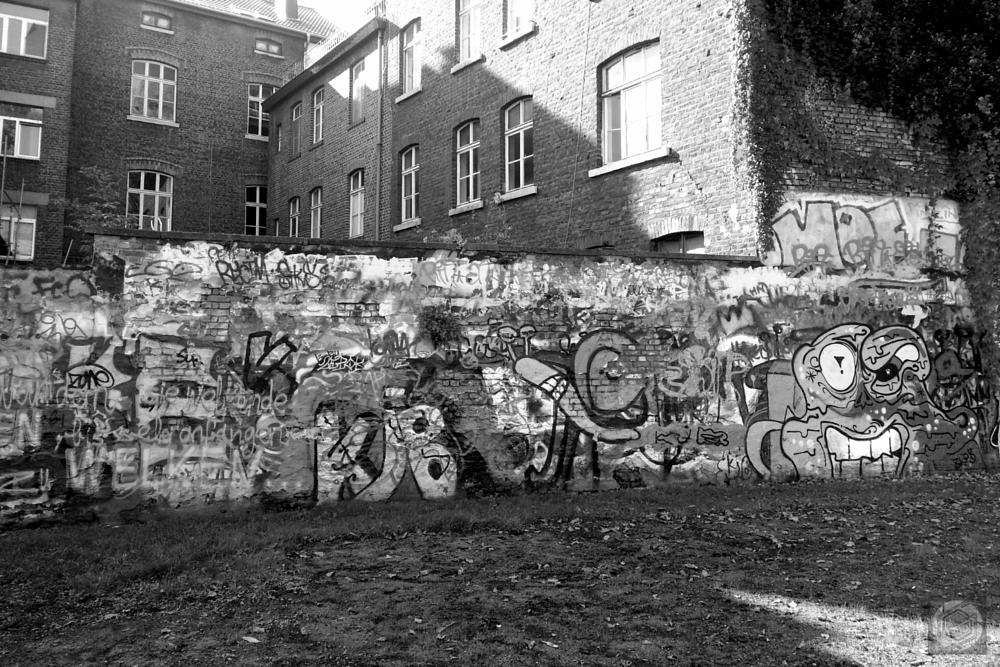 Photo in Black and White #city #graffiti #scratchwork