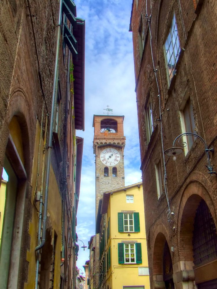 Photo in Architecture #torre #tower #orologio #clock #lucca #toscana #tuscany