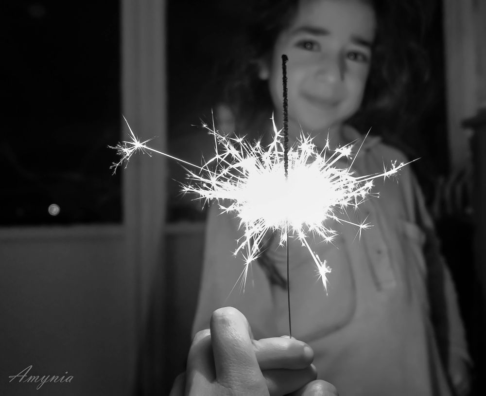 Photo in Black and White #spark #child #happy