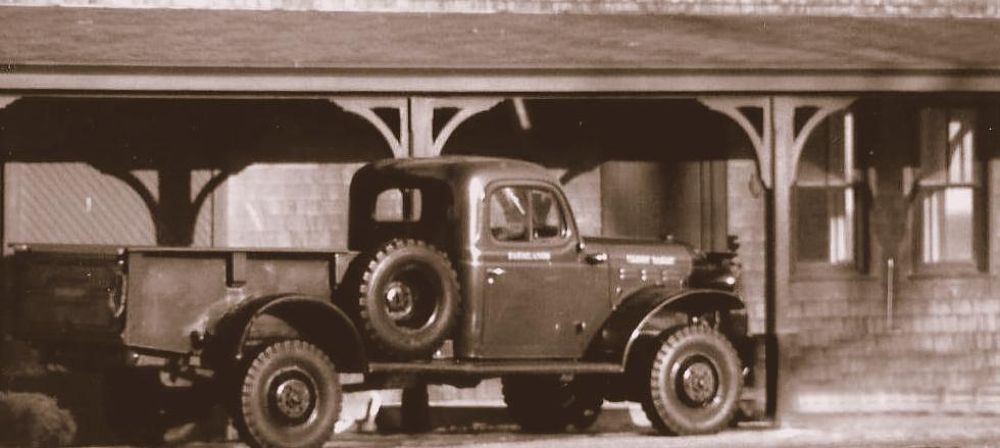 Photo in Black and White #black and white #barn #sepia #truck