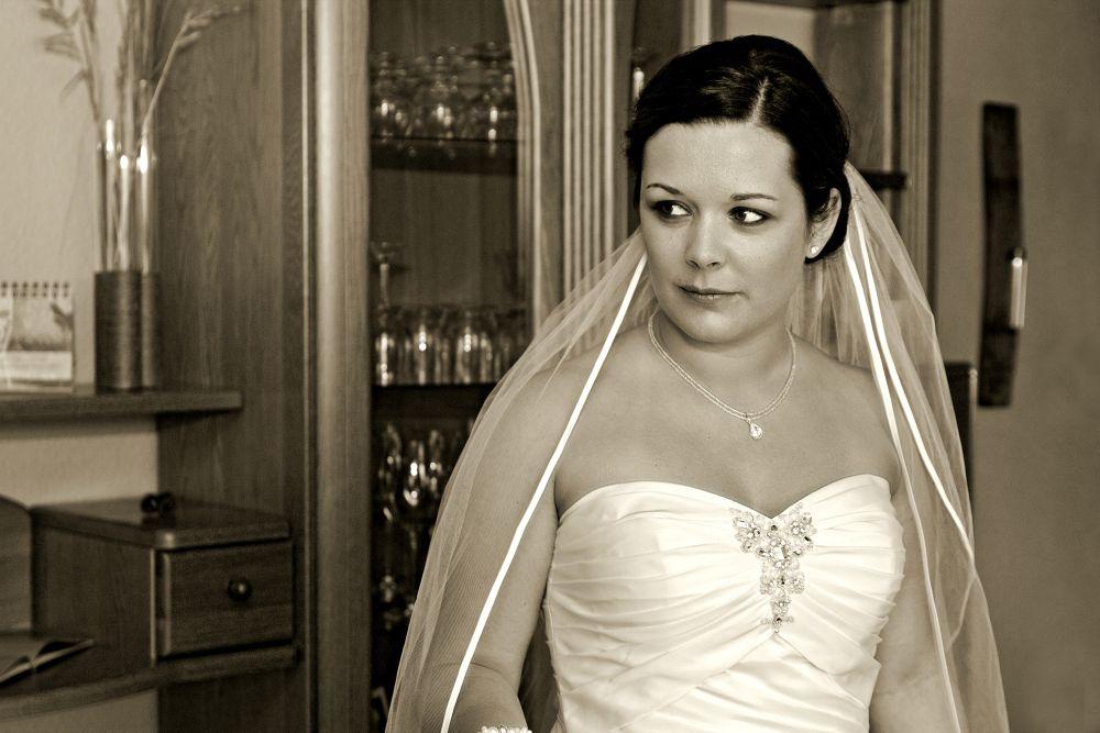 Photo in Wedding #groom #wedding #broad #dress #monochrome #rena sap