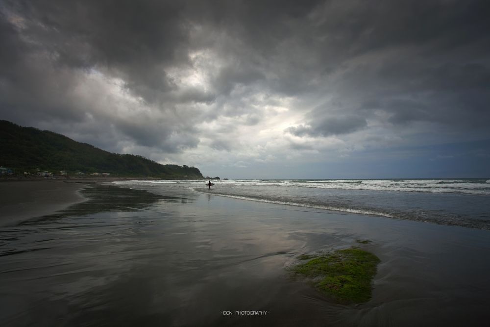 Photo in Landscape #cloudy day #beach #wave #surfers #cloud