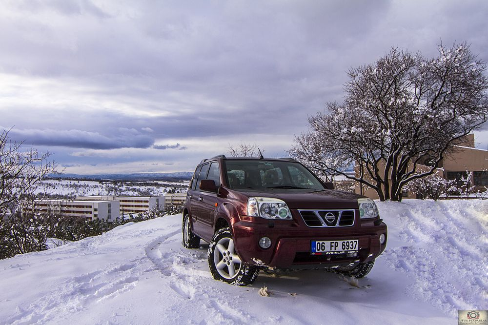 Photo in Landscape #nissan #nissan x trail #winter #snow #odtü #metu