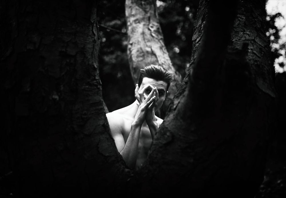 Photo in Abstract #alone #surreal #fine art #canon #black and white #conceptual #portrait #nature #tree #woods #london #eye #skull
