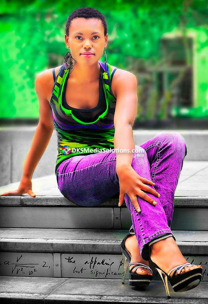 Photo in Fashion #downtown #fashion #editorial #model #dks media solutions #david k. smith #los angeles #apropos #central library #purple pants #high heels