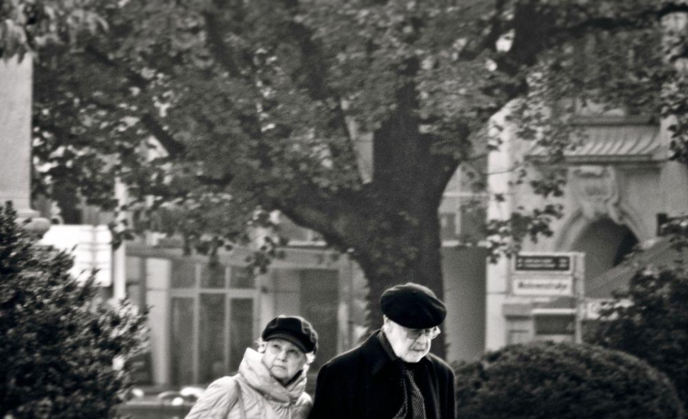 Photo in Random #berlin #street #photography #people #bw #outdoor #editorial #shooting #reza rezvani photography #alireza rezvani #postproduction #the old couple #das alte paar #nikon international contest 20