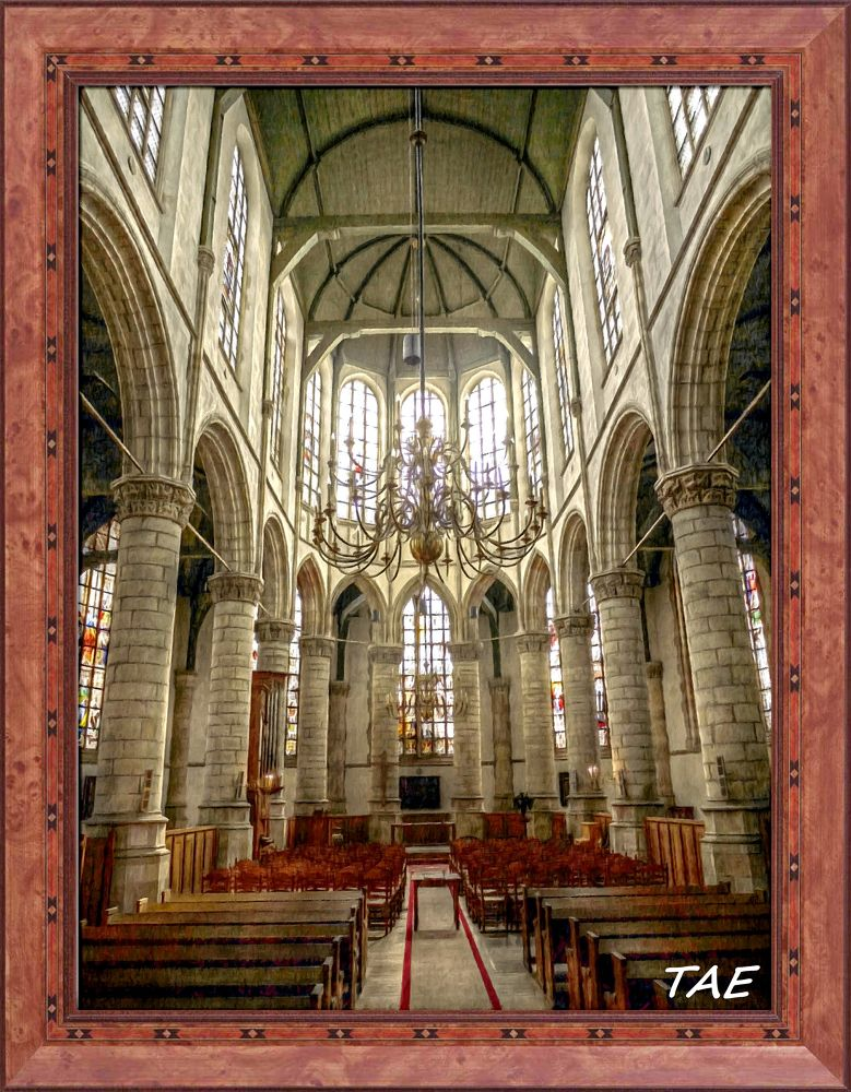 Photo in Interior #art #oil #painting #netherlands #cathedral #interior #fine #canvas #gouda