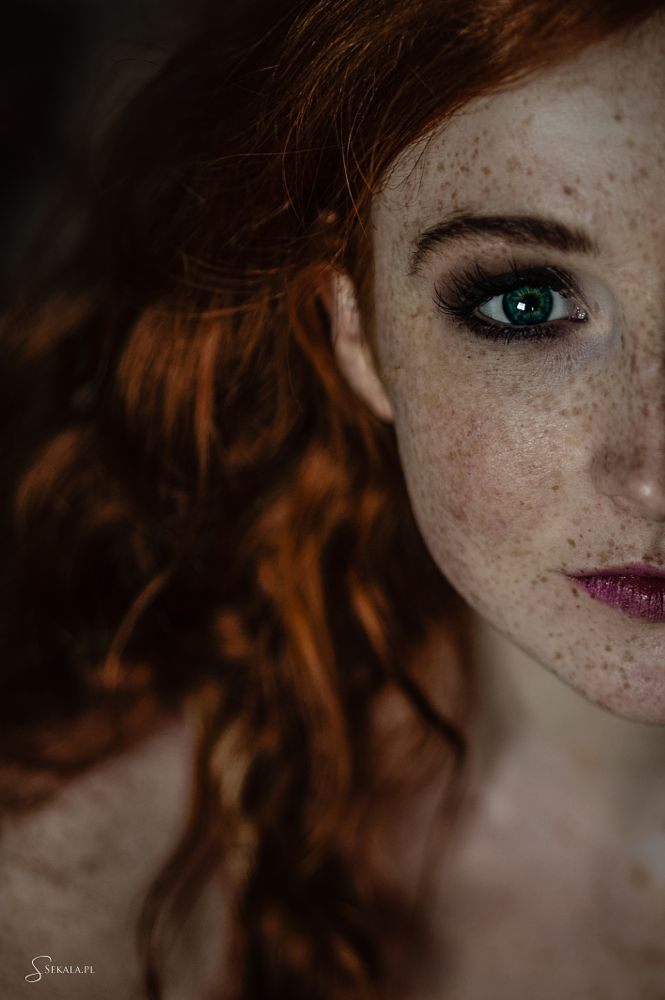 Photo in People #model #red head #freckles #green #eyes #beauty #natural light