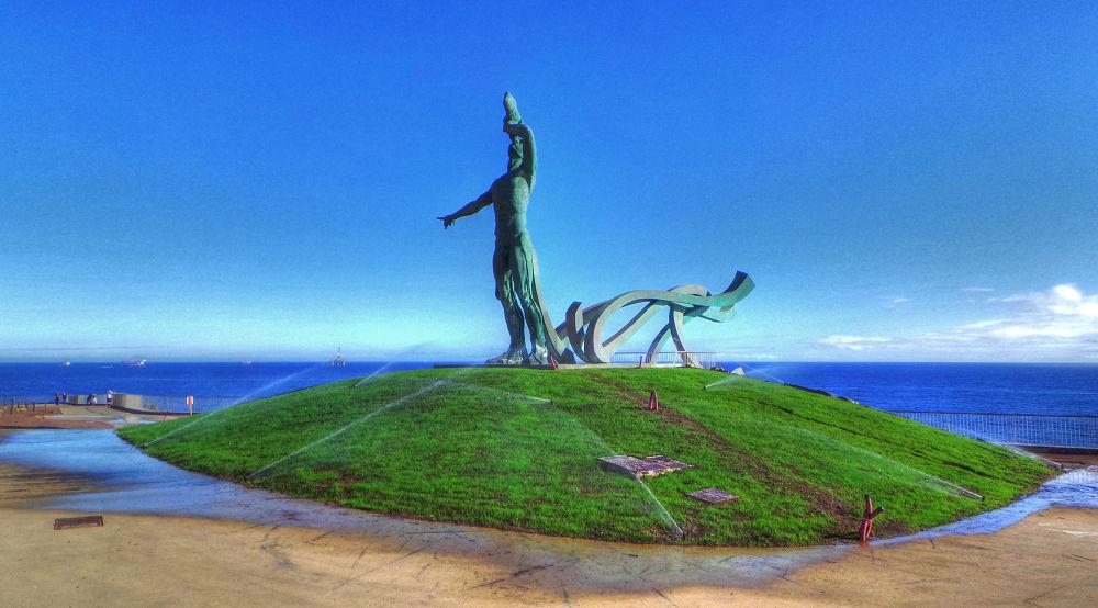 Photo in Landscape #exordio el triton #escultura el triton de la laja #esculturas de manolo gonzalez