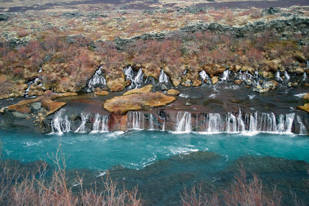 Photo in Landscape #hraunfossar #hvíta #iceland