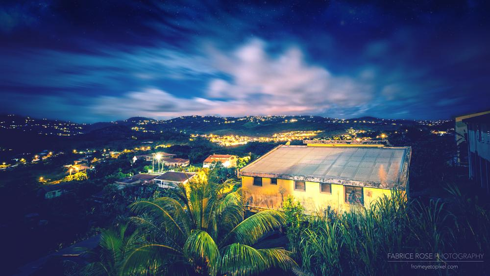 Photo in Landscape #long exposure #martinique #caribbean #landscape #nightscape #moonlight #5dmark3