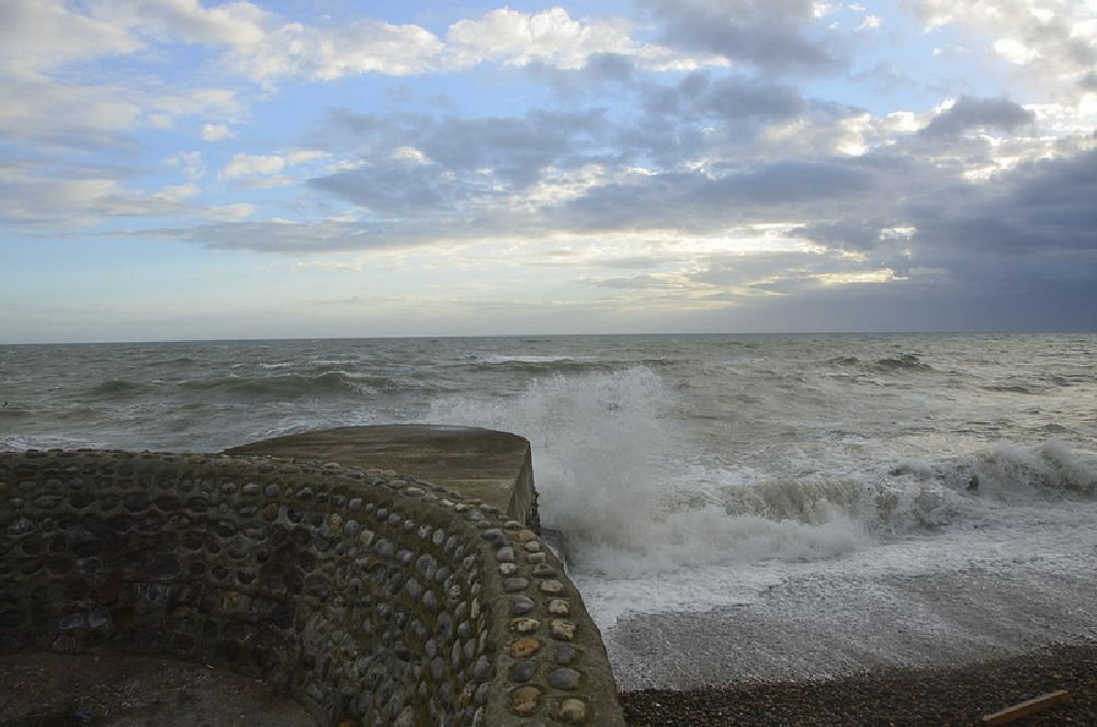 Photo in Sea and Sand #storm #st jude storm #brighton #beach #nikon