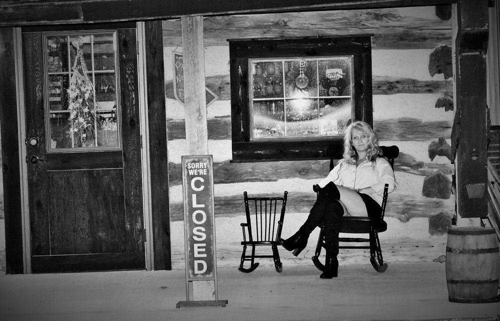 Photo in Black and White #model #historic kimmswick #missouri #black & white #mee maw's cabin #photography #cheryl noack photography