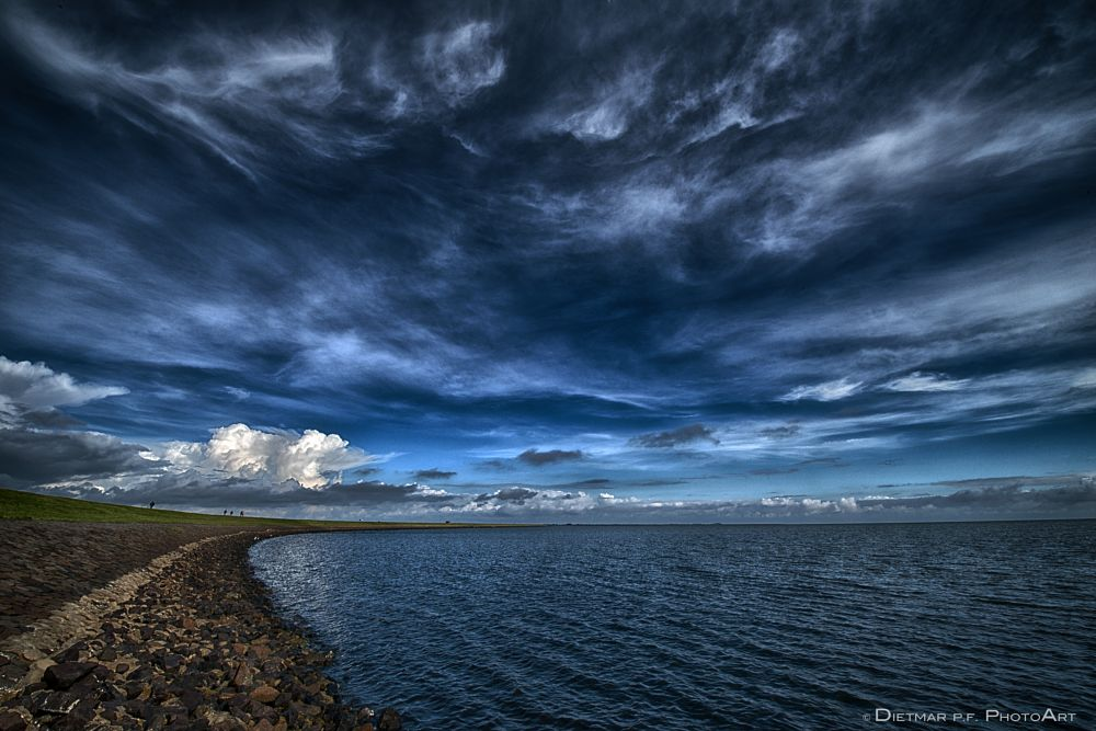 Photo in Sea and Sand #sea and sand #sky #clouds #nikon