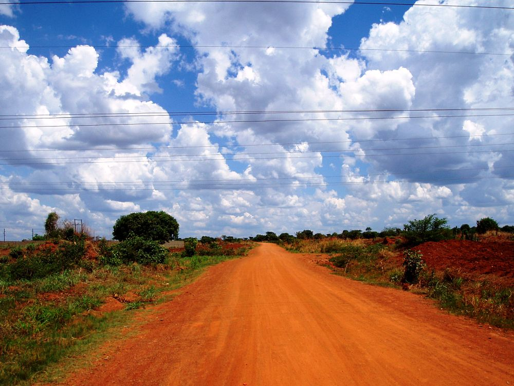 Photo in Landscape #copper road #red road #zambian road
