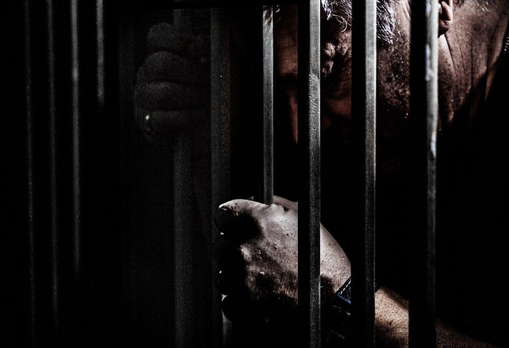 Photo in Portrait #portrait #portraiture #isolate #isolation #bars #caged