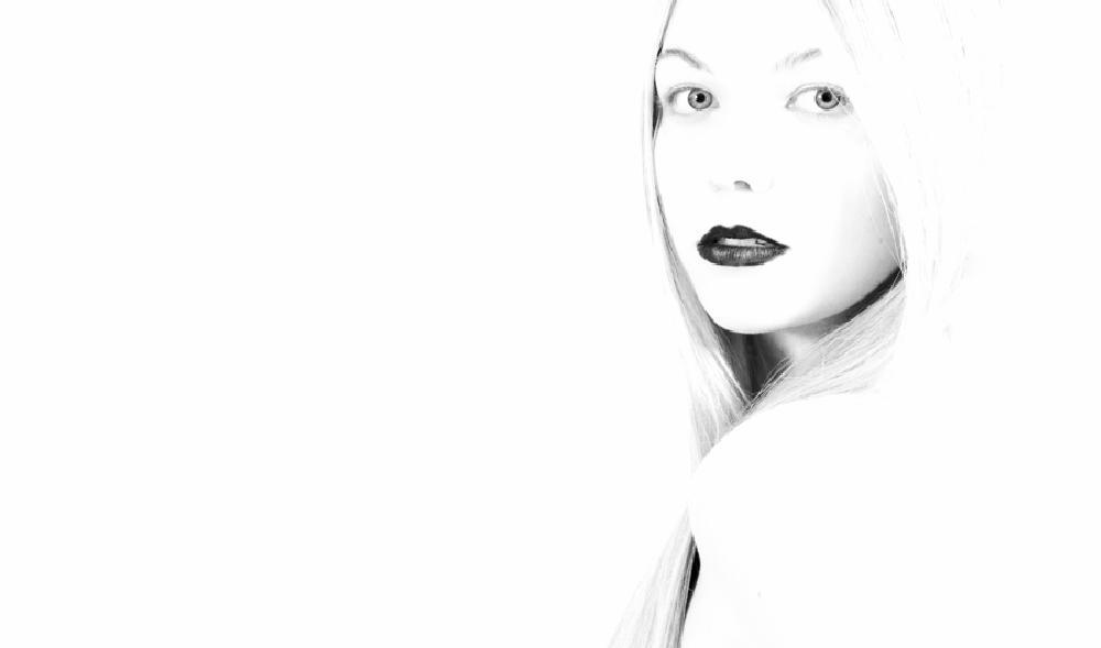 Photo in Portrait #portrait #face #eyes #white #hair #lips #make up