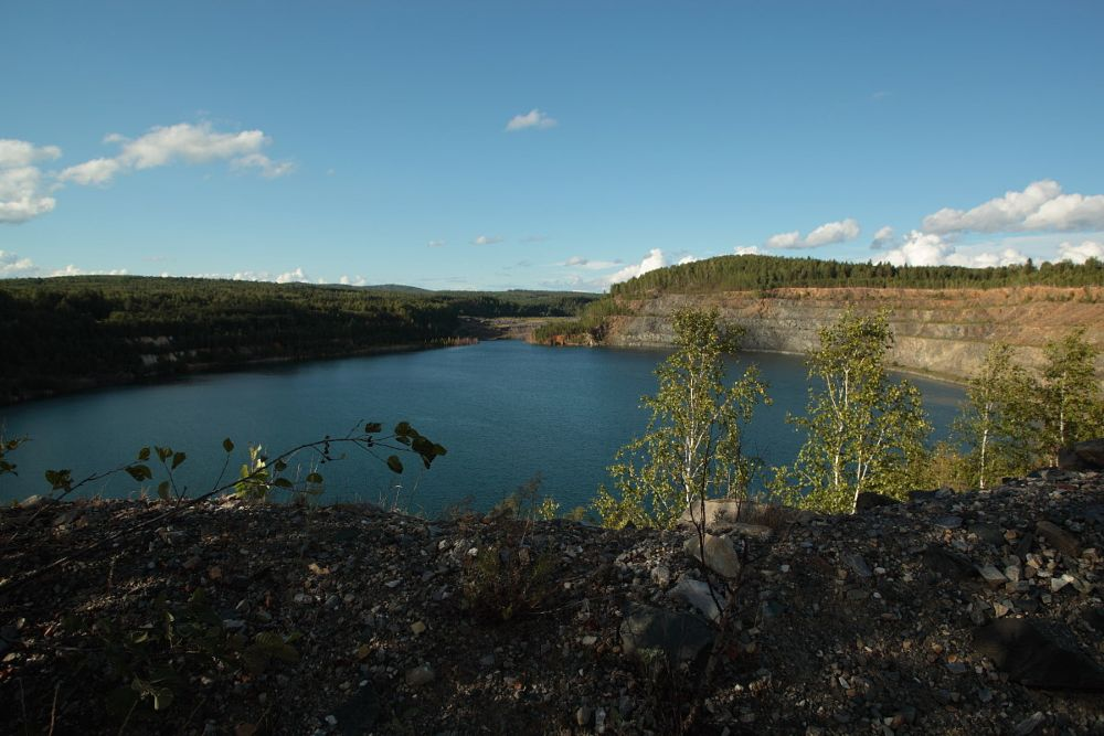 Photo in Landscape #quarry #water #rock #summer