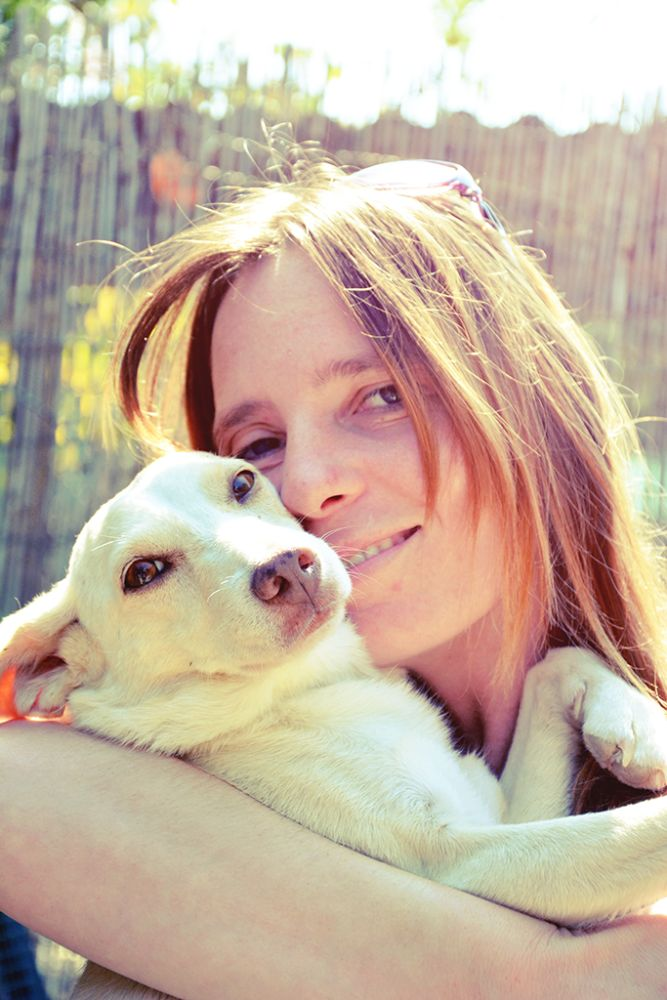 Photo in Portrait #woman #dog #love