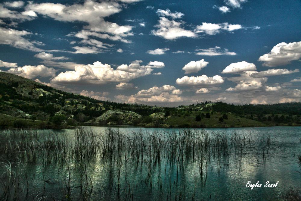 Photo in Landscape #lake #clouds #reflection #landscape #seascape