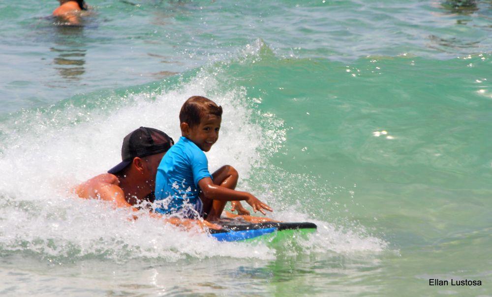 Photo in Journalism #surf #boy #family #beach