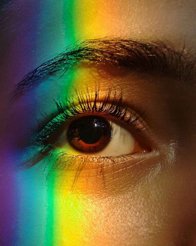 Photo in Vintage #eyes #colorful #colors #lightroom #photography #green #yellow #blue #purple