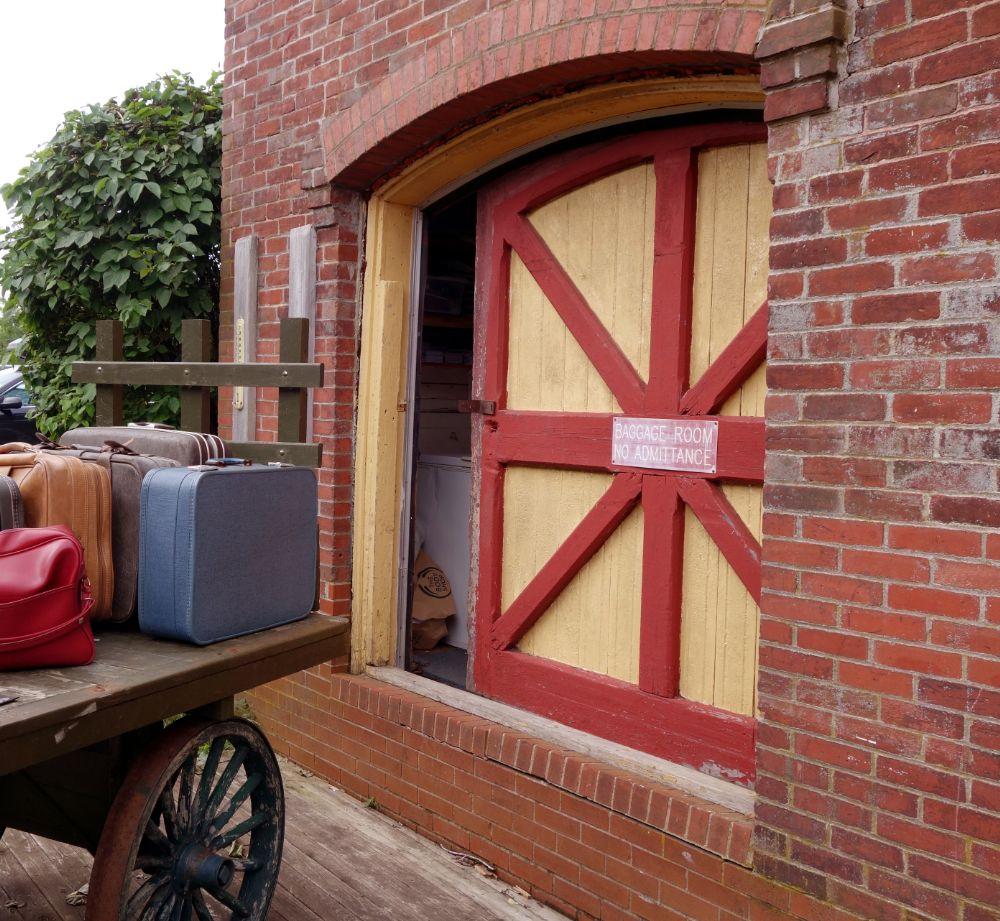Photo in Vintage #suitcases #loading station #sliding door