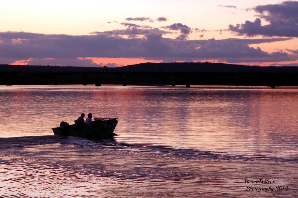 Photo in Landscape #water color #fishing #river #saint john river #fredericton