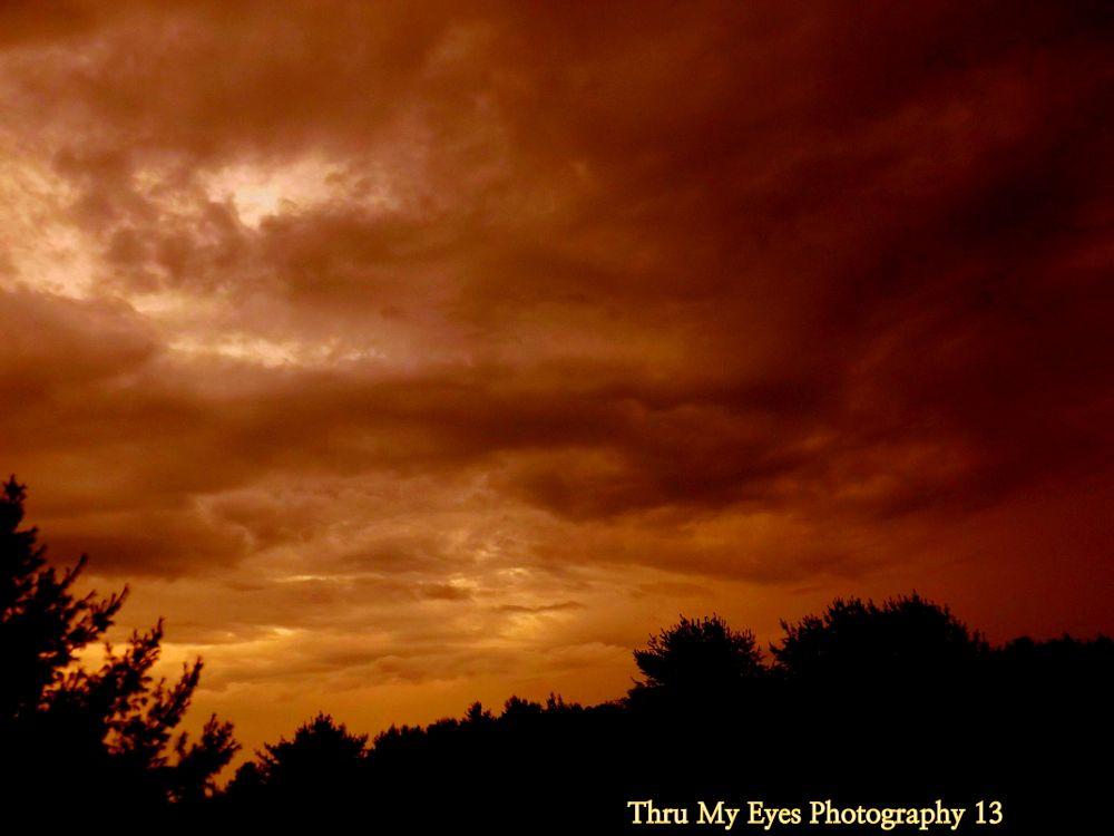 Photo in Random #red sunset #clouds #sky #nature #random