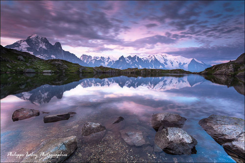 Photo in Landscape #alps #france #haute savoie #moutains #lake of chéserys #lake #water #réflection #dawn #landscapes #morning colors #philippe isabey photographies