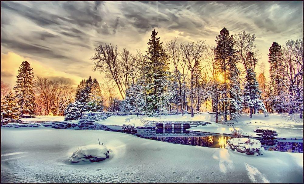Photo in Nature #nature #paysage #sun #sky #ciel #neige #snow #winter