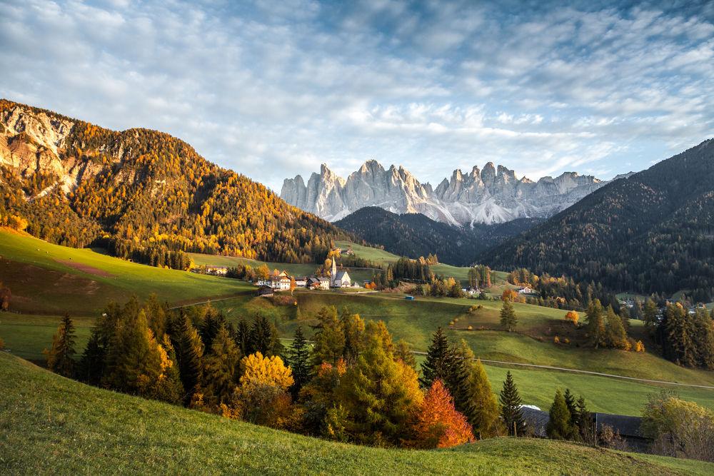 Photo in Landscape #santa maddalena #odle #val di funes #paesaggio #bellezza #autunno #alto adige #montagna #dolomiti