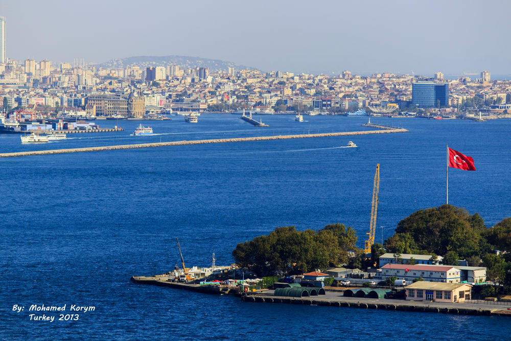 Photo in Landscape #golden #horn #istanbul #turkey #sea #marmara #blue #mmkorym