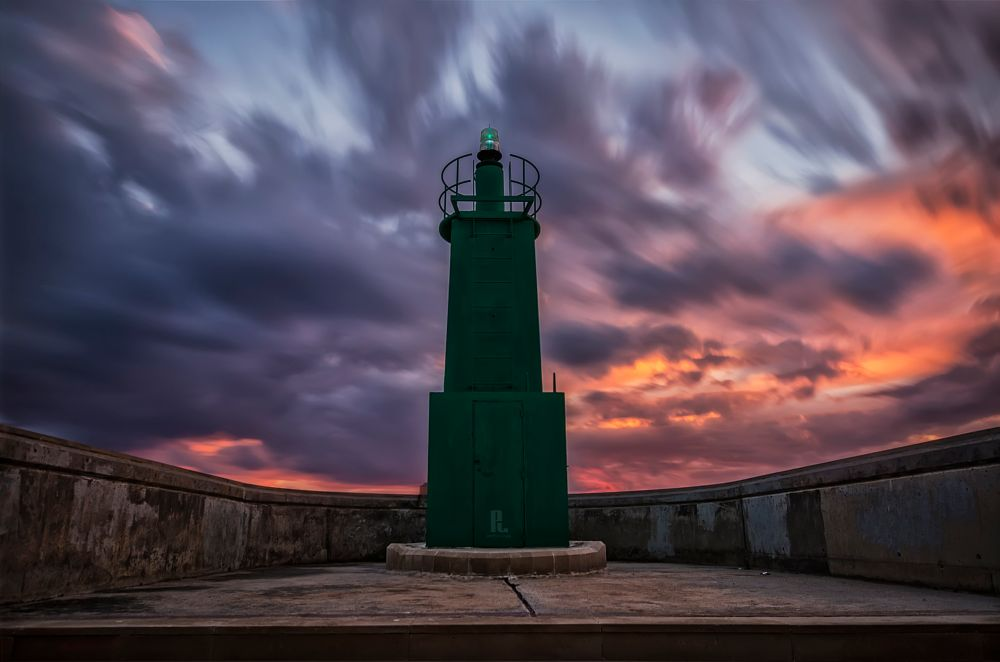 Photo in Landscape #lighthouse #faro #nubes #clouds #harbor #puerto