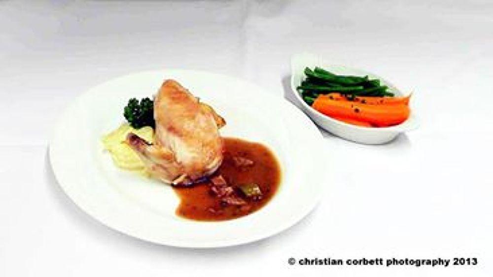 Photo in Food #roast chicken #mash potatoe #the chadwick hotel #lytham st annes #lancashire #christian corbett photography