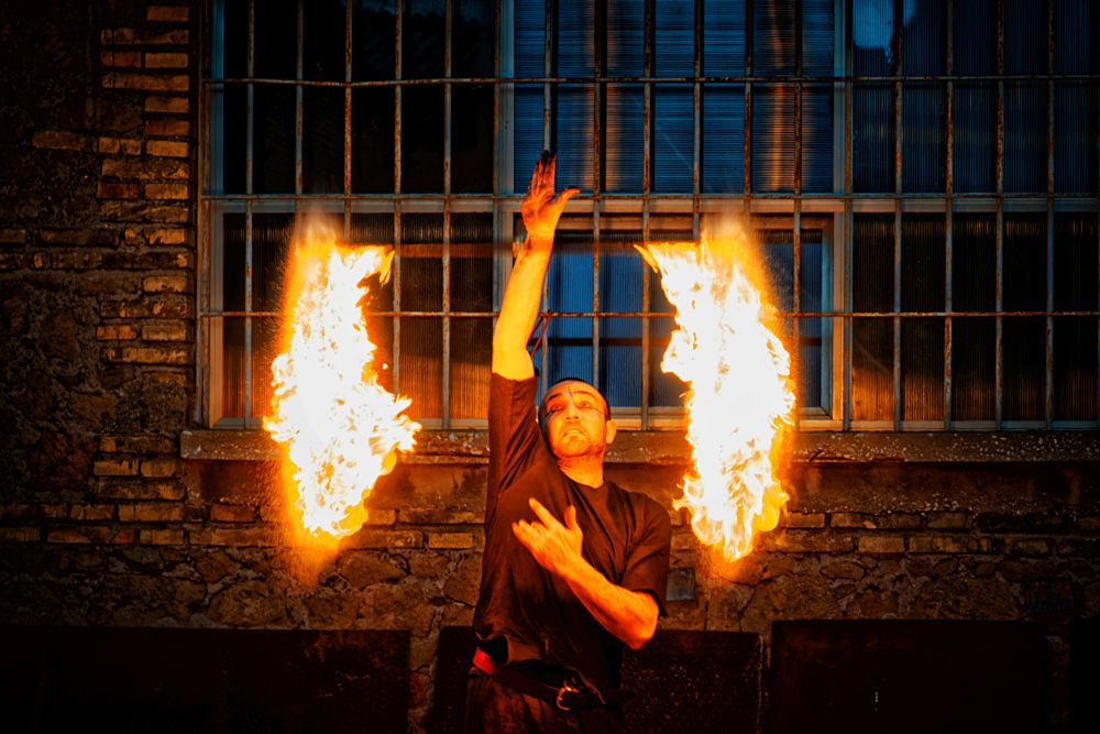 Photo in People #fireeater #fire #show